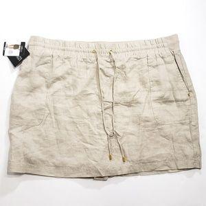 Ellen Tracy womens skort skirt built in shorts NWT